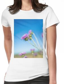 Pink Flower Womens Fitted T-Shirt