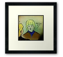 Where Do You Get Off? Framed Print