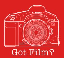 Canon EOS 1v 'Got Film?' T Shirt by David Jenkins