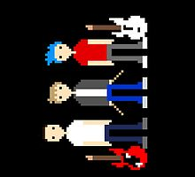Pixel Matt, Chris and Dom  by lydiagill