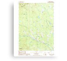USGS TOPO Map New Hampshire NH Warner 329840 1987 24000 Canvas Print