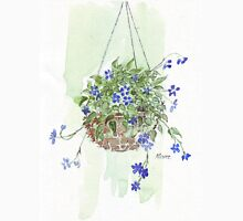Electric blue hanging basket, Womens Fitted T-Shirt