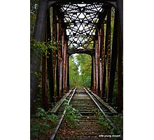 Railway to nowhere Photographic Print
