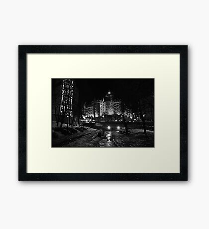 The Haunted Hotel Framed Print