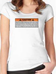 Caution: Excessive exposure warning Women's Fitted Scoop T-Shirt