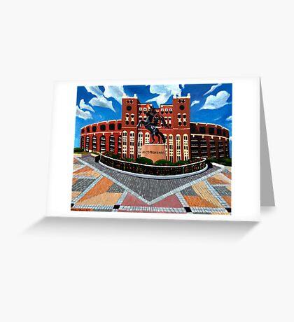 "108. ""Unconquered. (Doak Campbell Stadium, Florida State University)."" Greeting Card"