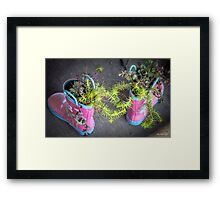These Boots Were Made For Planting Framed Print