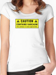 Caution: Contains Sarcasm Women's Fitted Scoop T-Shirt