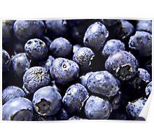 Burst of Blueberries Poster