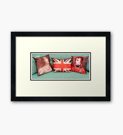Cojines con Historia.... Framed Print