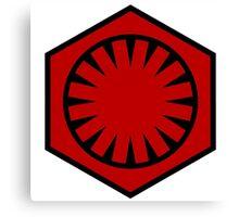 Star Wars: First Order Emblem Canvas Print