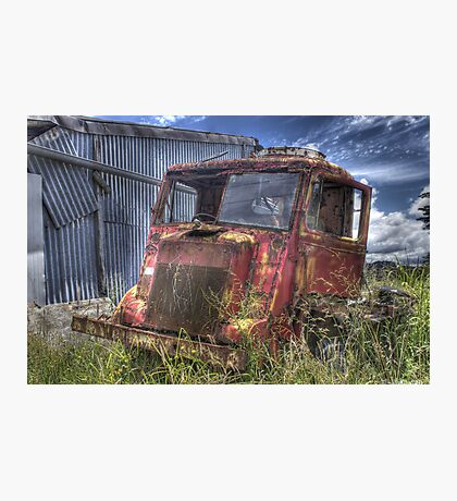 Abandoned truck Photographic Print