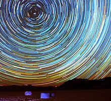 Star Trails over Racetrack Playa Stones of Death Valley by Gavin Heffernan