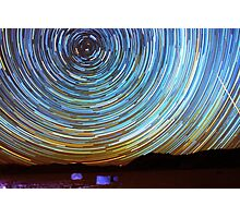 Star Trails over Racetrack Playa Stones of Death Valley Photographic Print