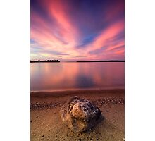 The Pink End, Leech Lake Photographic Print