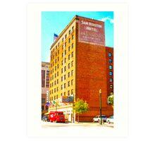 Sam Houston Hotel HDR Art Print