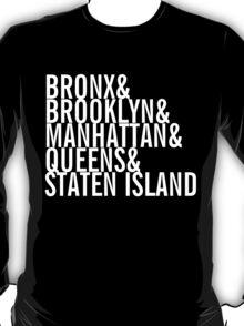New York City - Neighborhoods (white) T-Shirt