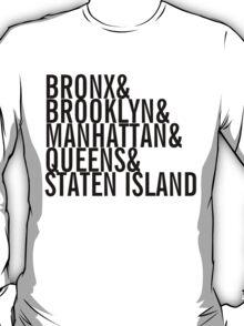 New York City - Neighborhoods (black) T-Shirt