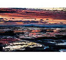 Pinks, blues, sky, rocks, sea Photographic Print