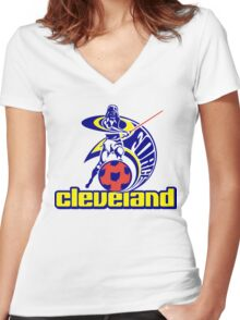 Cleveland Soccer Force Women's Fitted V-Neck T-Shirt