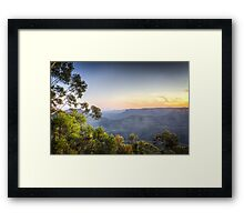 Echo Point, Blue Mountains in HDR Framed Print