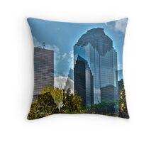 HDR, Art,  Down Town Houston TX Throw Pillow
