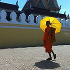 Buddhist monk in Phnom Pehn, Cambodia by pommieken