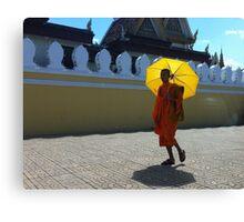 Buddhist monk in Phnom Pehn, Cambodia Canvas Print