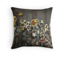 Zombie Parade Throw Pillow