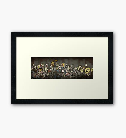 Zombie Parade Framed Print