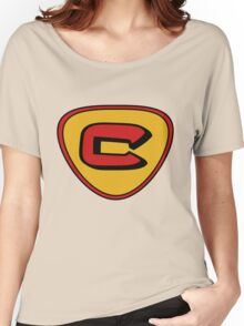 cow and chicken super cow Women's Relaxed Fit T-Shirt