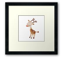 Rudolf the reindeer Framed Print