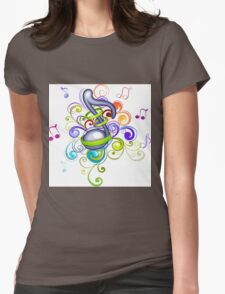Music in the air Womens Fitted T-Shirt