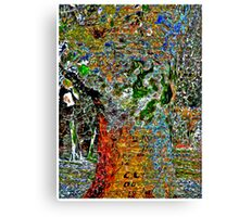Hand Signed Tree Canvas Print
