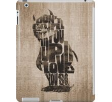 Where The Wild Things Are Typography iPad Case/Skin