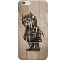 Where The Wild Things Are Typography iPhone Case/Skin