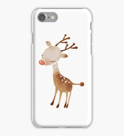 Rudolf the reindeer iPhone Case/Skin