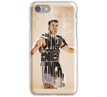 Gladiator Typography iPhone Case/Skin