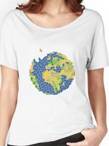 tetris earth  Women's Relaxed Fit T-Shirt