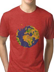 tetris earth  Tri-blend T-Shirt