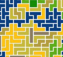 tetris earth  Sticker