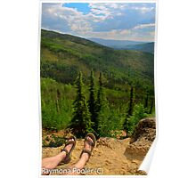 Happy feet hikers Poster