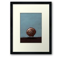 Grumpy Old Fat Pig with Nose Ring Framed Print