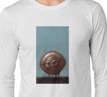 Grumpy Old Fat Pig with Nose Ring Long Sleeve T-Shirt