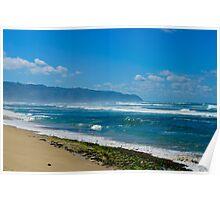 Rugged shore Oahu Hawaii Poster