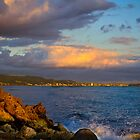 Sunset city view Honolulu Oahu Hawaii by raymona pooler