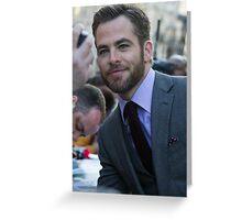 Chris Pine Greeting Card