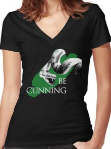 Be Cunning Women's Fitted V-Neck T-Shirt