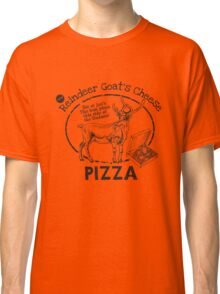 Reindeer Goat's Cheese Pizza - Bruce Willis Classic T-Shirt