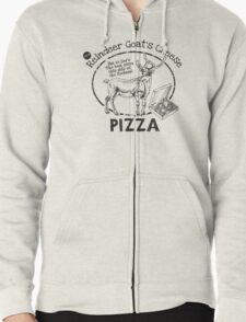 Reindeer Goat's Cheese Pizza - Bruce Willis Zipped Hoodie